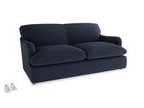 Medium Pudding Sofa Bed in Indigo vintage linen