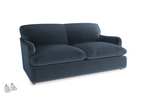 Medium Pudding Sofa Bed in Liquorice Blue clever velvet