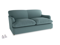 Medium Pudding Sofa Bed in Marine washed cotton linen