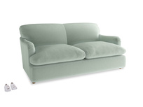 Medium Pudding Sofa Bed in Mint clever velvet