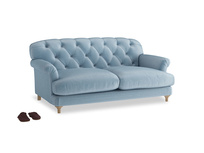 Medium Truffle Sofa in Chalky blue vintage velvet