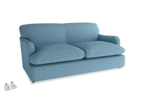 Medium Pudding Sofa Bed in Moroccan blue clever woolly fabric