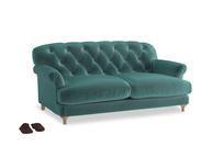Medium Truffle Sofa in Real Teal clever velvet