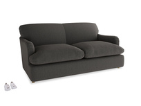 Medium Pudding Sofa Bed in Old Charcoal brushed cotton