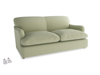 Medium Pudding Sofa Bed in Old sage washed cotton linen