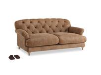 Medium Truffle Sofa in Walnut beaten leather