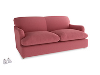 Medium Pudding Sofa Bed in Raspberry brushed cotton