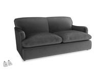 Medium Pudding Sofa Bed in Scuttle grey vintage velvet