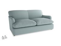 Medium Pudding Sofa Bed in Smoke blue brushed cotton