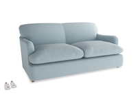 Medium Pudding Sofa Bed in Soothing blue washed cotton linen