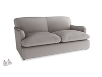 Medium Pudding Sofa Bed in Soothing grey vintage velvet