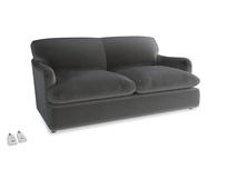 Medium Pudding Sofa Bed in Steel clever velvet