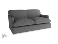 Medium Pudding Sofa Bed in Strong grey clever woolly fabric