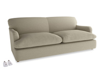 Large Pudding Sofa Bed in Jute vintage linen
