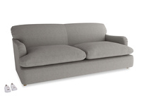 Large Pudding Sofa Bed in Marl grey clever woolly fabric