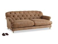Large Truffle Sofa in Walnut beaten leather