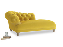Left Hand Fats Chaise Longue in Bumblebee clever velvet
