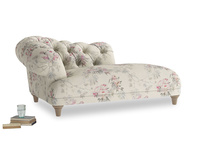 Left Hand Fats Chaise Longue in Pink vintage rose