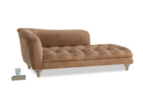 Left Hand Slumber Jack Chaise Longue in Walnut beaten leather