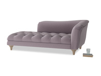 Right Hand Slumber Jack Chaise Longue in Lavender brushed cotton