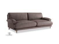 Large Slowcoach Sofa in Dark Chocolate beaten leather