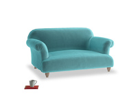 Small Soufflé Sofa in Belize clever velvet