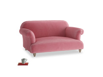 Small Soufflé Sofa in Blushed pink vintage velvet