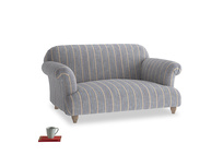 Small Soufflé Sofa in Brittany Blue french stripe