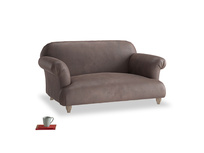 Small Soufflé Sofa in Dark Chocolate beaten leather