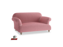 Small Soufflé Sofa in Dusty Rose clever velvet