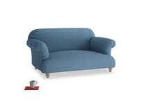 Small Soufflé Sofa in Easy blue clever linen