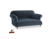 Small Soufflé Sofa in Liquorice Blue clever velvet