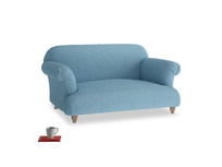 Small Soufflé Sofa in Moroccan blue clever woolly fabric