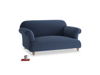 Small Soufflé Sofa in Navy blue brushed cotton