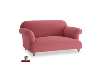 Small Soufflé Sofa in Raspberry brushed cotton