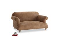 Small Soufflé Sofa in Walnut beaten leather