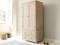 Amory wardrobe in bleached oak