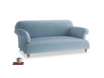 Medium Soufflé Sofa in Chalky blue vintage velvet