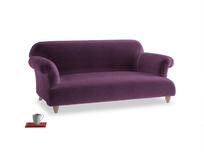 Medium Soufflé Sofa in Grape clever velvet