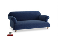 Medium Soufflé Sofa in Ink Blue wool