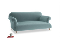 Medium Soufflé Sofa in Lagoon clever velvet