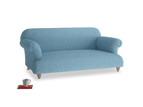 Medium Soufflé Sofa in Moroccan blue clever woolly fabric