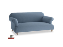Medium Soufflé Sofa in Nordic blue brushed cotton
