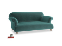 Medium Soufflé Sofa in Real Teal clever velvet