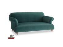Medium Soufflé Sofa in Timeless teal vintage velvet