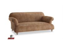 Medium Soufflé Sofa in Walnut beaten leather