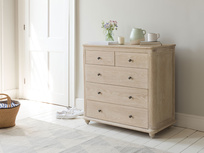 Élodie bleached oak chest of drawers