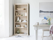 Tall Stash reclaimed wood book shelves