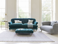 Truffle deep seated button sofa