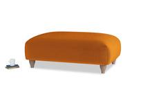 Soufflé Footstool in Spiced Orange clever velvet